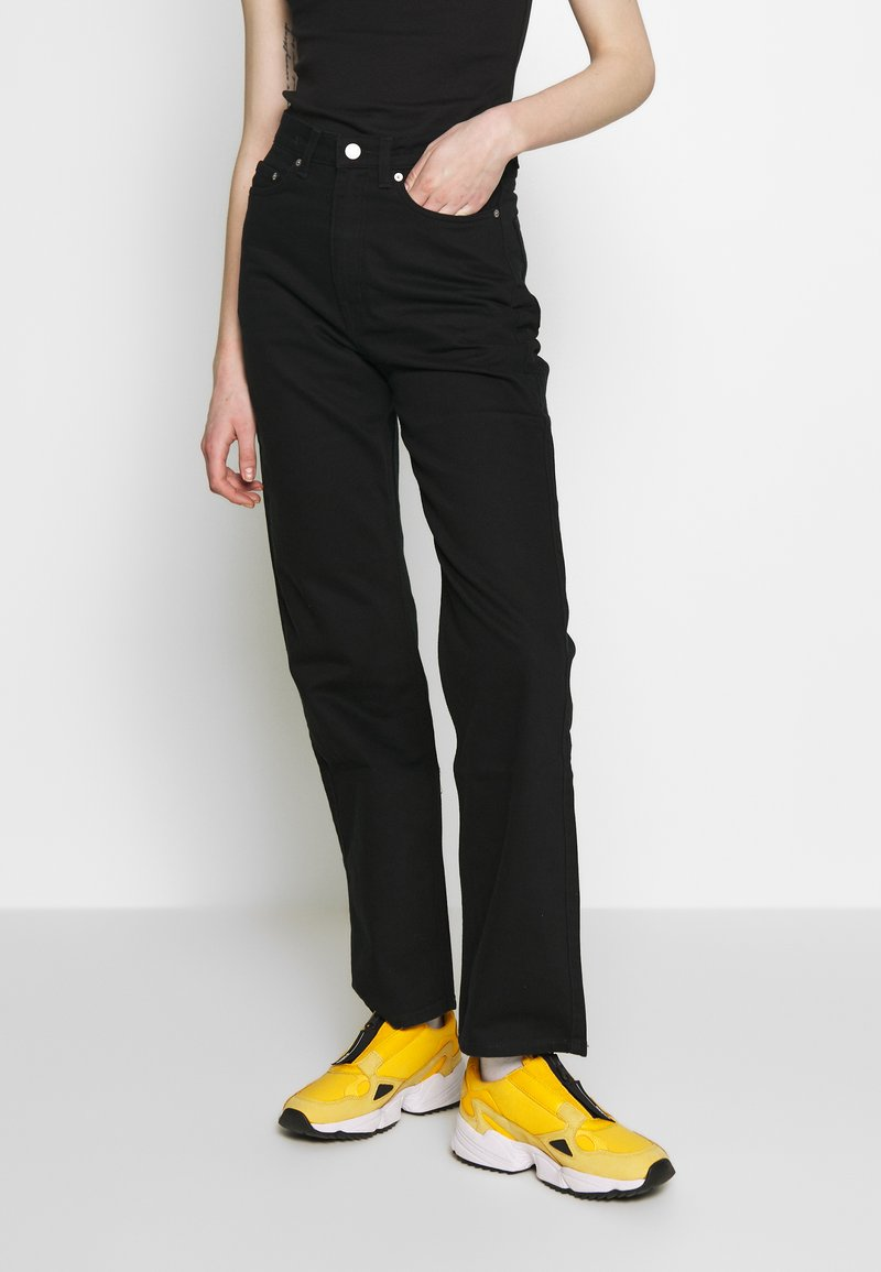 Weekday - ROW STAY - Straight leg jeans - black