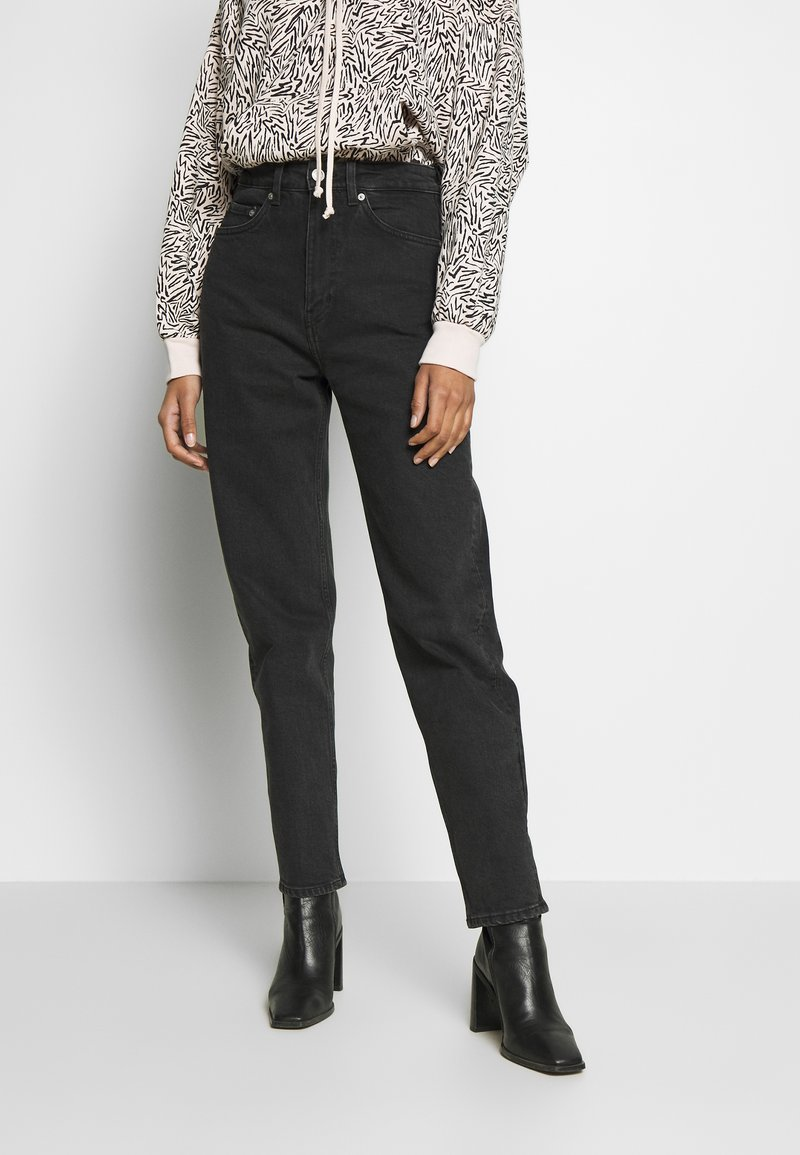 Weekday - LASH EXTRA HIGH MOM ECHO - Jeans Tapered Fit - echo black