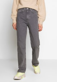 Weekday - ROWE EXTRA HIGH - Jeans straight leg - dark grey - 2
