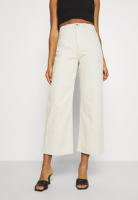 Weekday - LINEAR TROUSERS - Jeans straight leg - canvas - 0