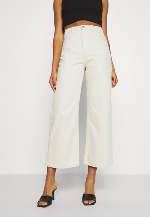 LINEAR TROUSERS - Straight leg jeans - canvas