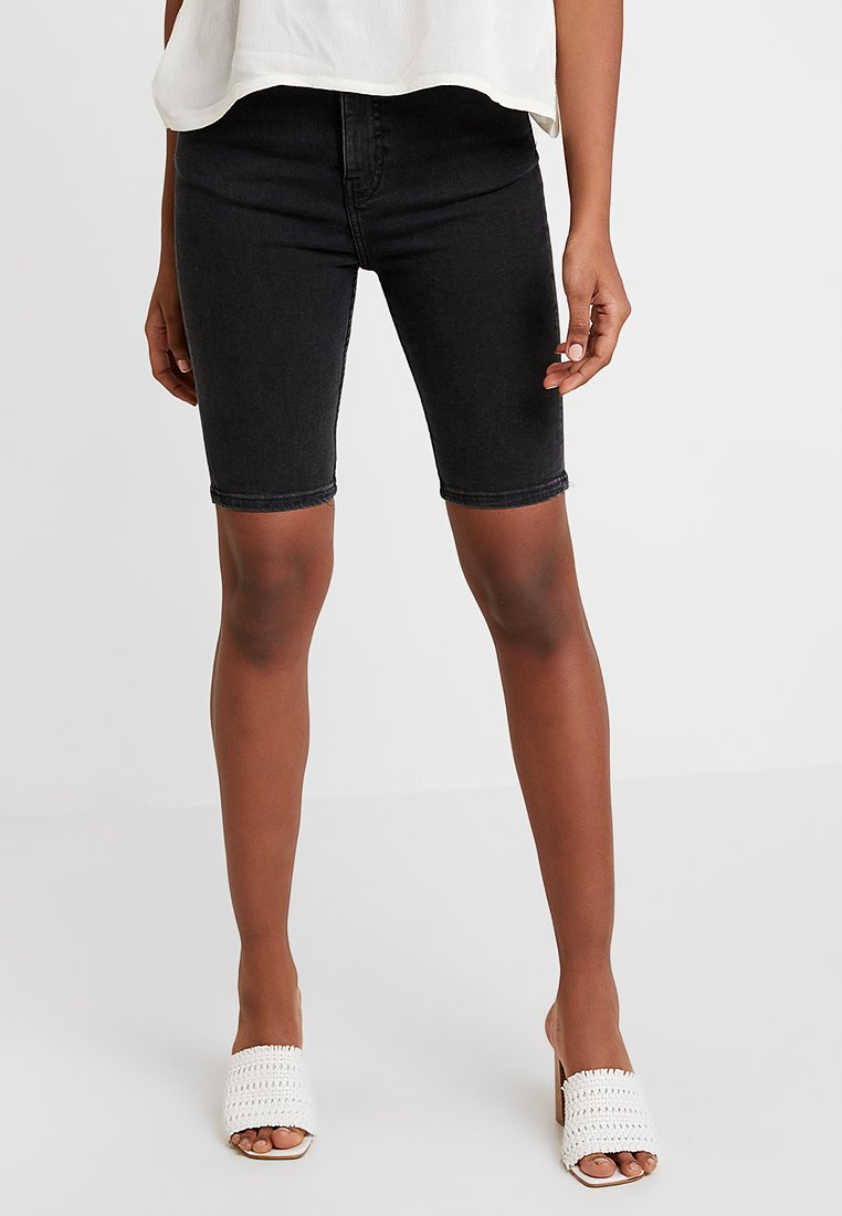Weekday - BODY HIGH - Denim shorts - black