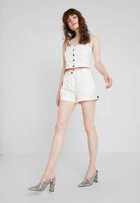 Weekday - ROCIO SHORTS - Shorts - off white - 1