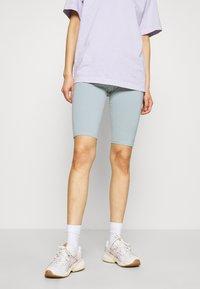 Weekday - MAURICE BIKER - Shorts - turqoise dusty light - 0