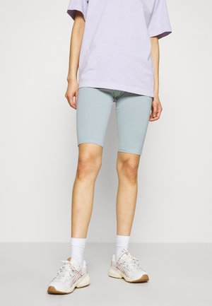 MAURICE BIKER - Shorts - turqoise dusty light