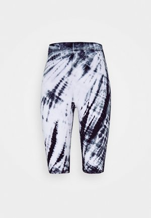 MAURICE BIKER - Shorts - black/white
