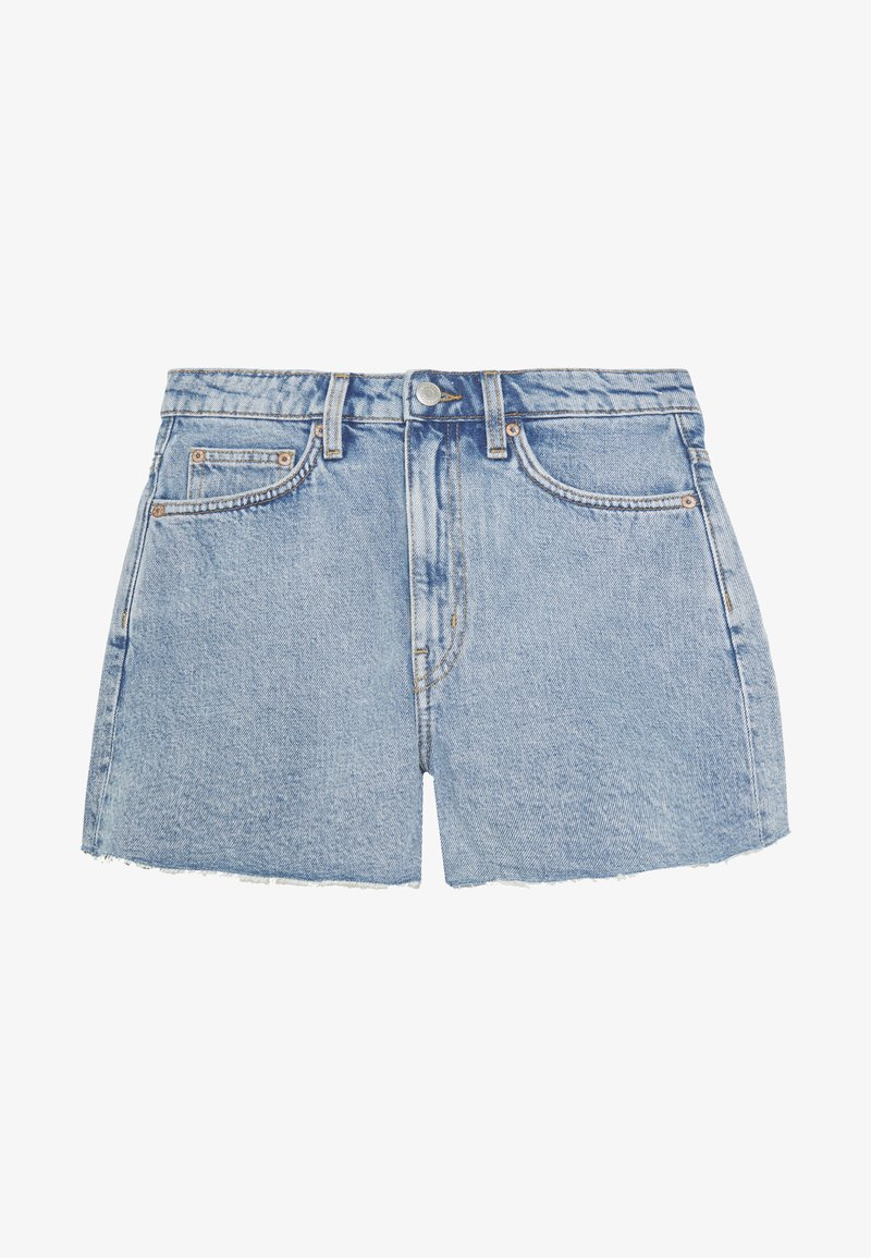Weekday - ROWE  - Denim shorts - pen blue