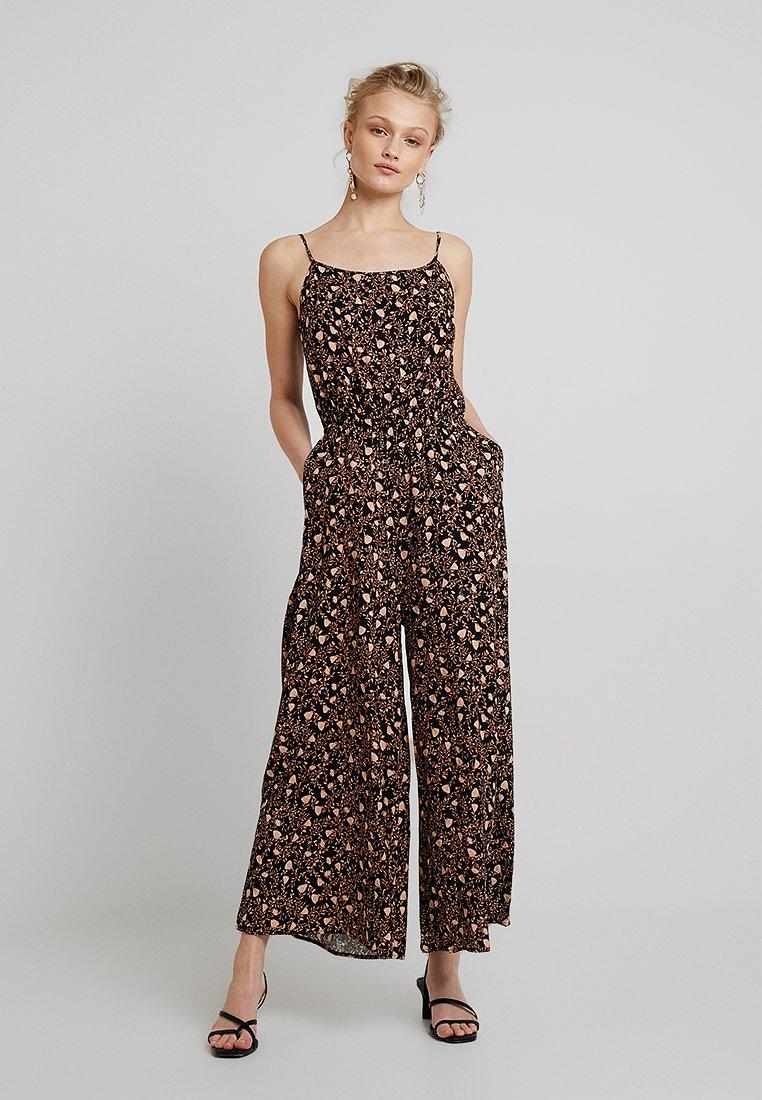 Weekday - ELORA - Tuta jumpsuit - black/orange