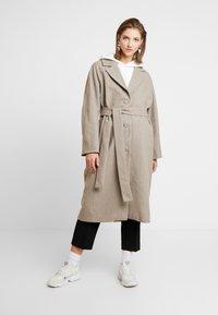 Weekday - VIVI COAT - Classic coat - mole - 1