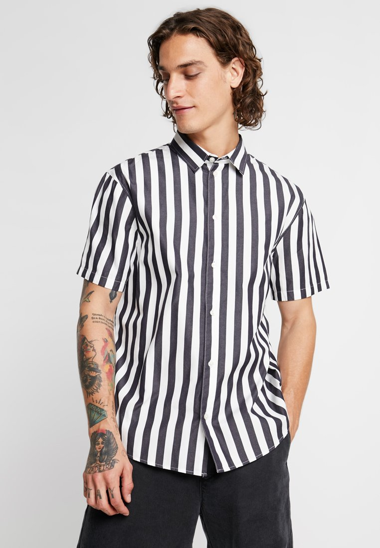 Weekday SleeveChemise Navy white Louie Striped tshdxQCr