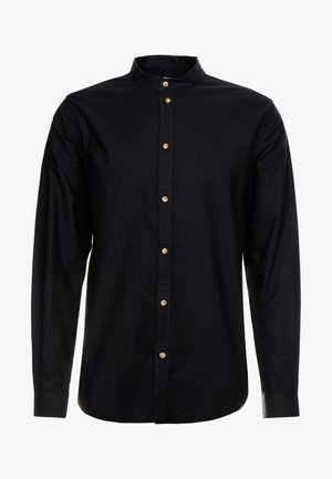 HARING COLLARLESS SHIRT - Camicia - black dark