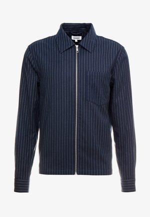 AHMED PINSTRIPE ZIP  - Koszula - dark blue