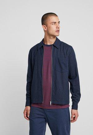 AHMED PINSTRIPE ZIP  - Camicia - dark blue
