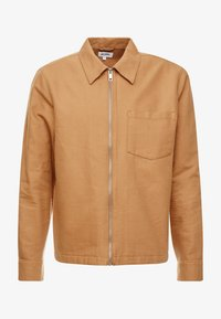Weekday - AHMED ZIP SHIRT - Overhemd - beige - 3