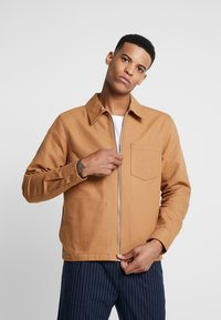 Weekday - AHMED ZIP SHIRT - Overhemd - beige - 0