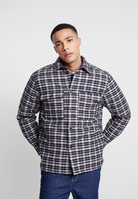 Weekday - CHRIS QUILTED OVERSHIRT - Allvädersjacka - black/beige - 0