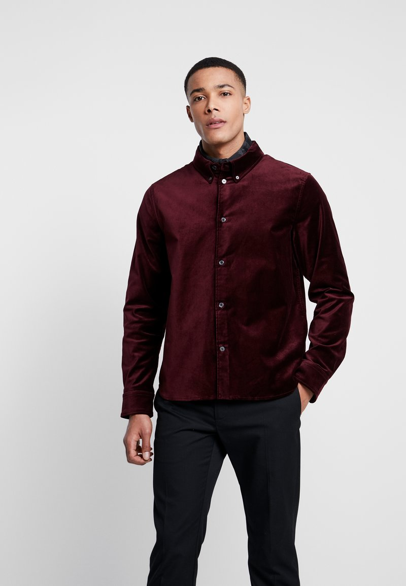 Weekday - LOA  SHIRT - Camisa - burgundy