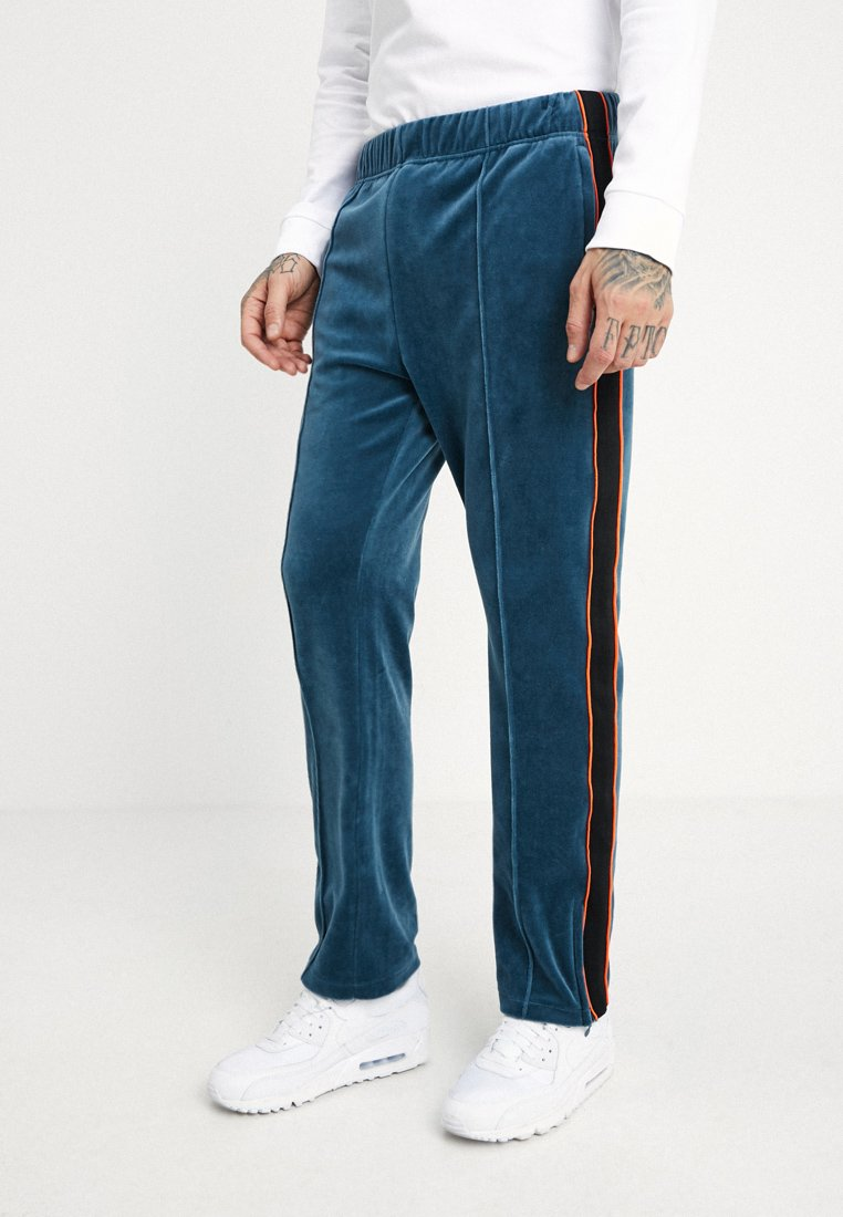 Weekday - LOCAL SWETPANTS - Tracksuit bottoms - petrol blue