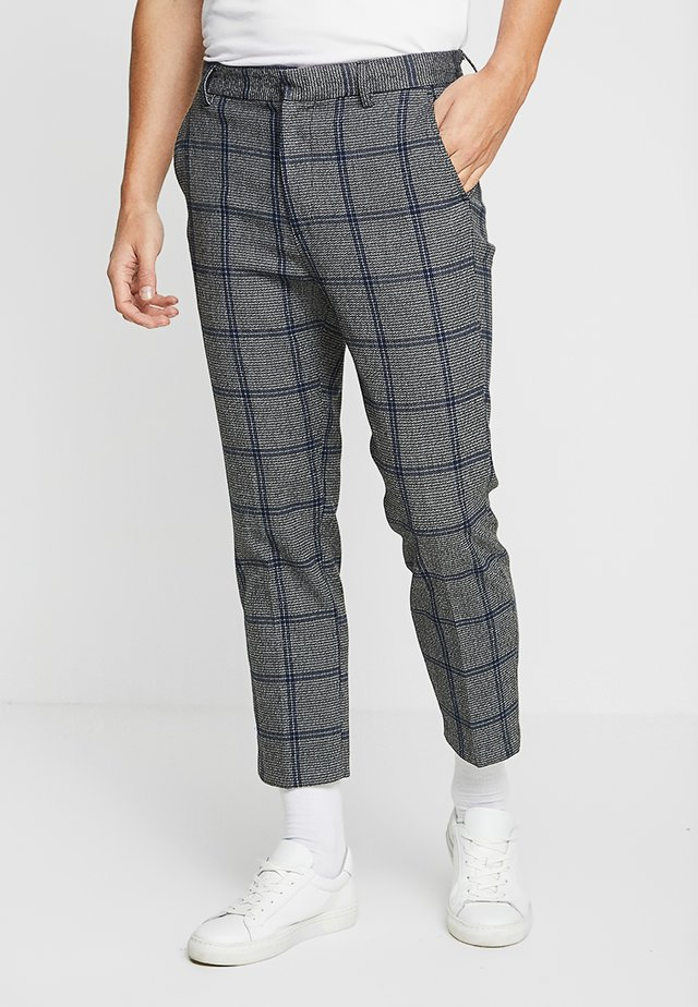 CHARLIE CHECKED TROUSERS - Bukse - grey/blue