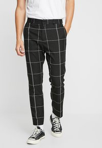 Weekday - CHECKED TROUSERS - Kalhoty - black/white - 0