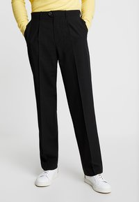 Weekday - CONRAD TROUSERS - Tygbyxor - black - 0