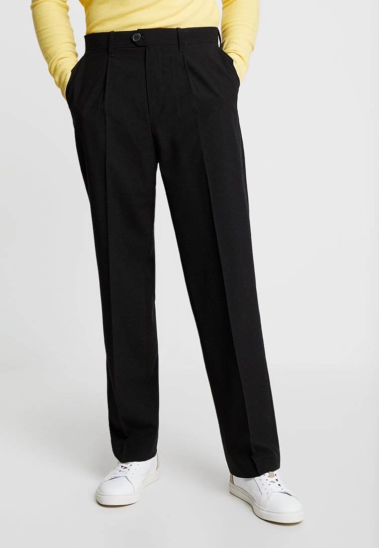 Weekday - CONRAD TROUSERS - Tygbyxor - black