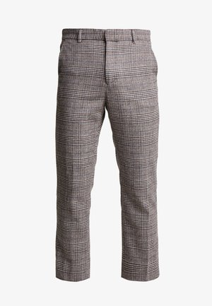 CHARLIE CHECK TROUSER - Stoffhose - beige