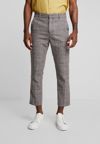 Weekday - CHARLIE CHECK TROUSER - Stoffhose - beige - 0