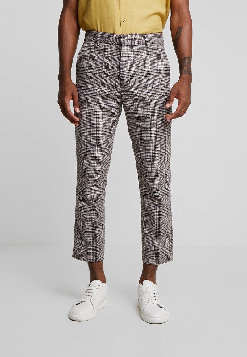Weekday - CHARLIE CHECK TROUSER - Broek - beige
