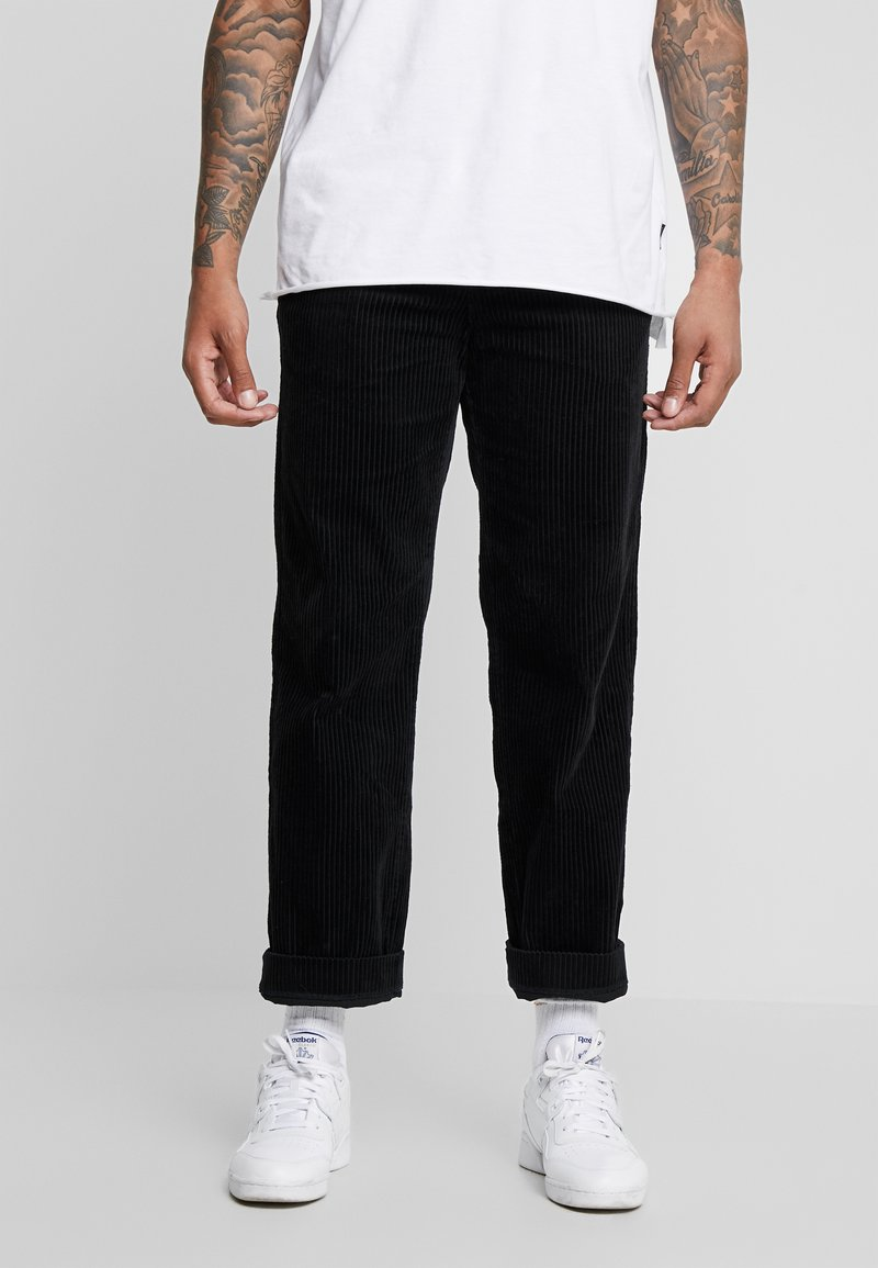 Weekday - PINEWOOD TROUSERS - Trousers - black
