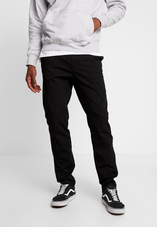 BODIE TWILL TROUSERS - Trousers - black