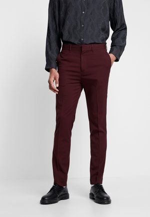 BODIE SUIT TROUSERS - Dressbukse - wine red