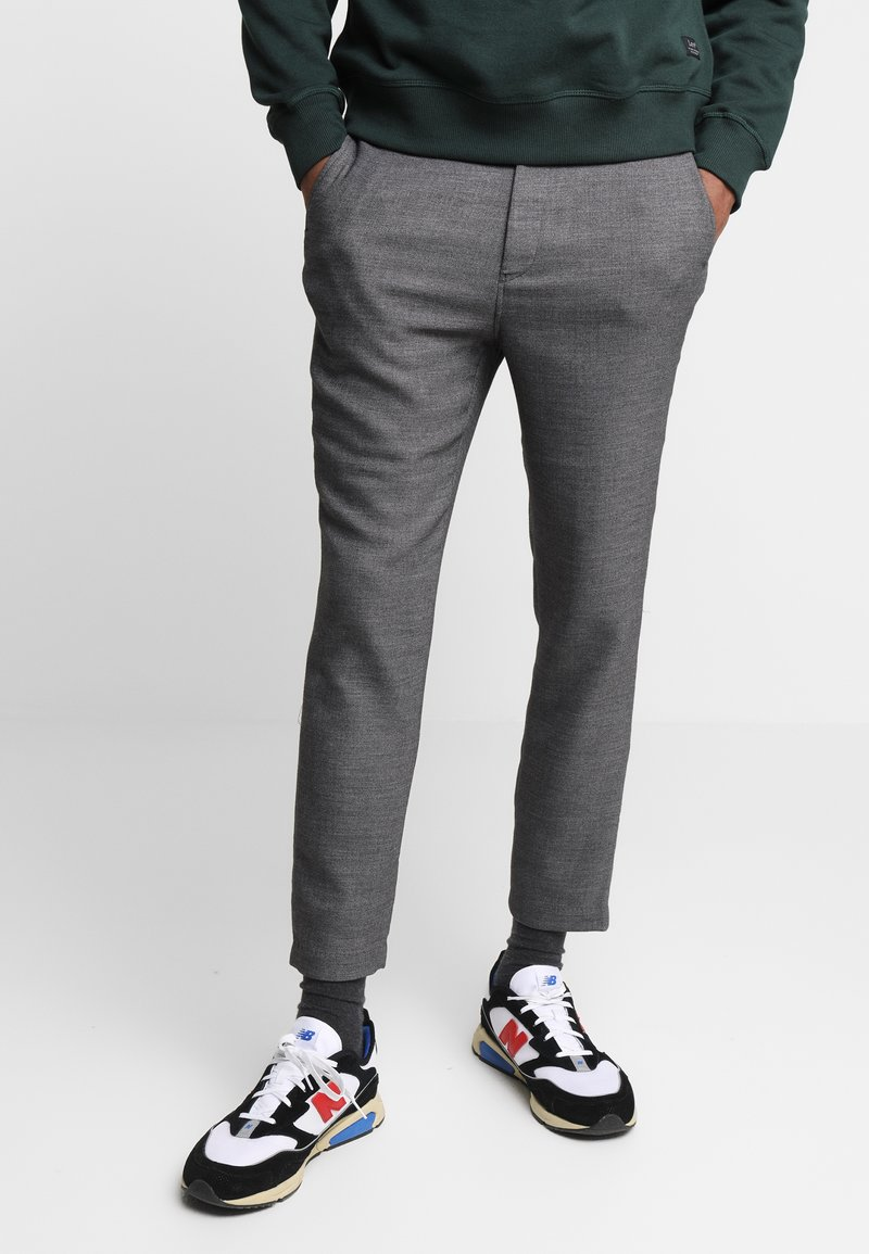 Weekday - ARVID TROUSERS - Trousers - dark grey