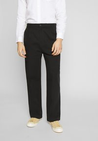 Weekday - MFON TROUSERS - Stoffhose - black - 0