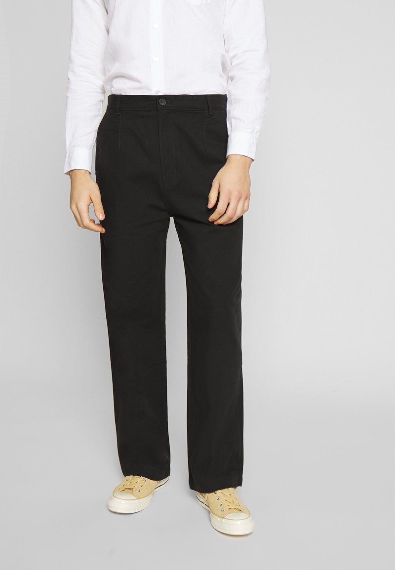 Weekday - MFON TROUSERS - Stoffhose - black
