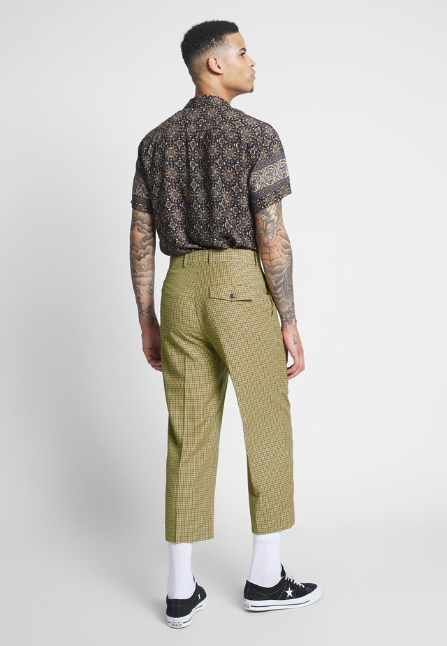 COLIN CHECKED TROUSERS - Bukse - beige