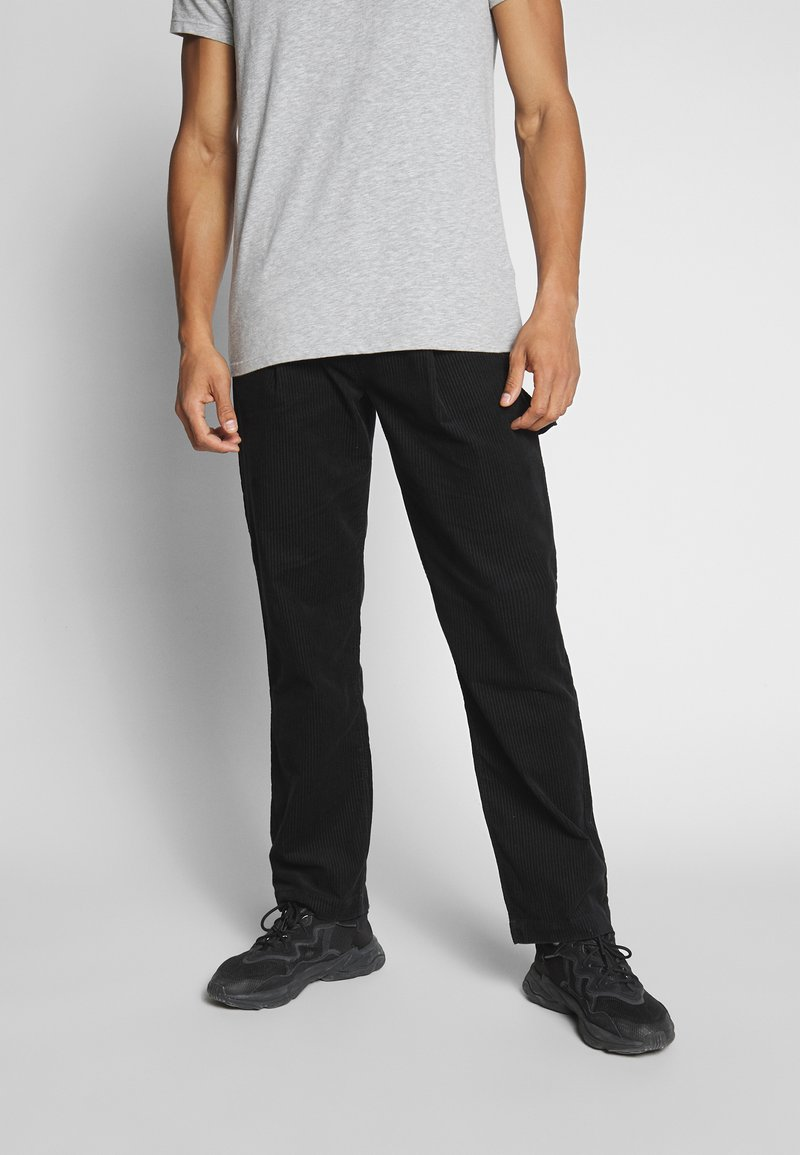 Weekday - DIMITRI TROUSERS - Trousers - black