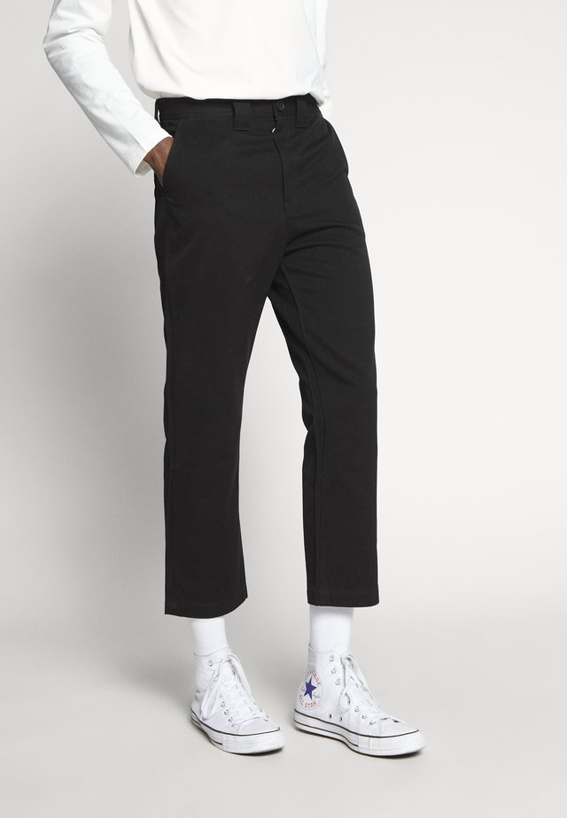 TILO TROUSERS - Spodnie materiałowe - black