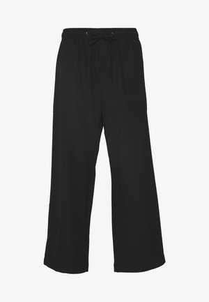 GALE CROPPED TROUSERS - Tygbyxor - black