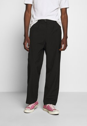 CONRAD WIDE TROUSERS - Tygbyxor - black
