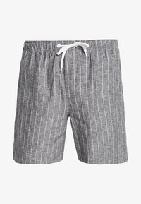 Weekday - PILLAR STRIPED - Shorts - grey melange/white - 3
