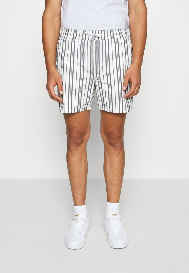 OLSEN STRIPED  - Shorts - navy