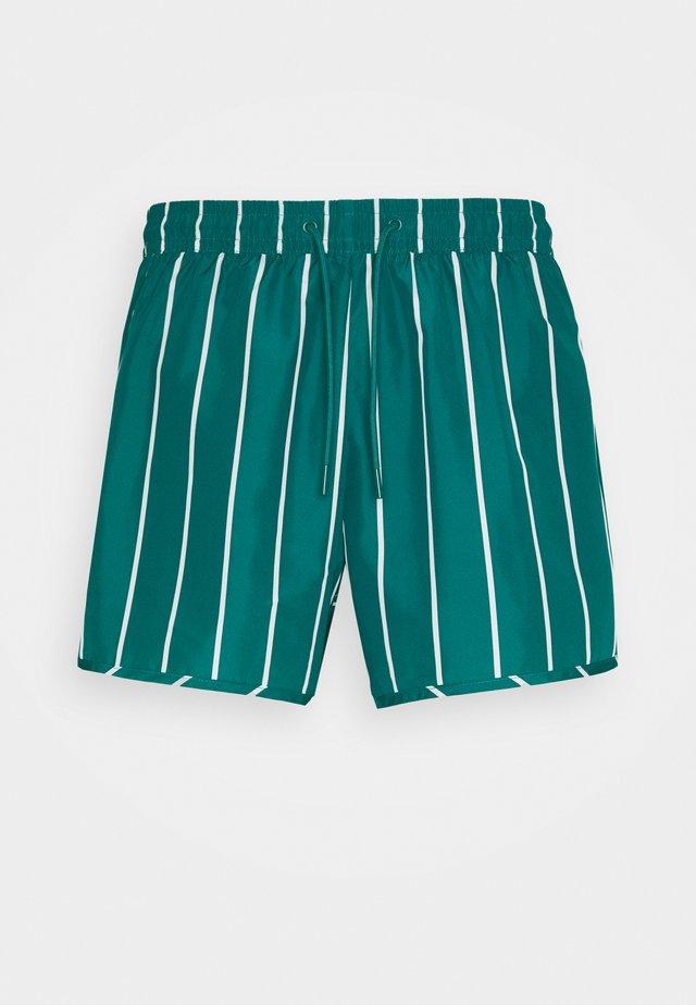 TAN  - Swimming shorts - petrol green/white