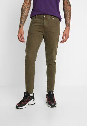 CONE VERDE - Jeans Tapered Fit - khaki green
