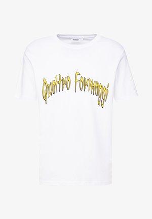 FRANK QUATTRO FORMAGGI - Camiseta estampada - white