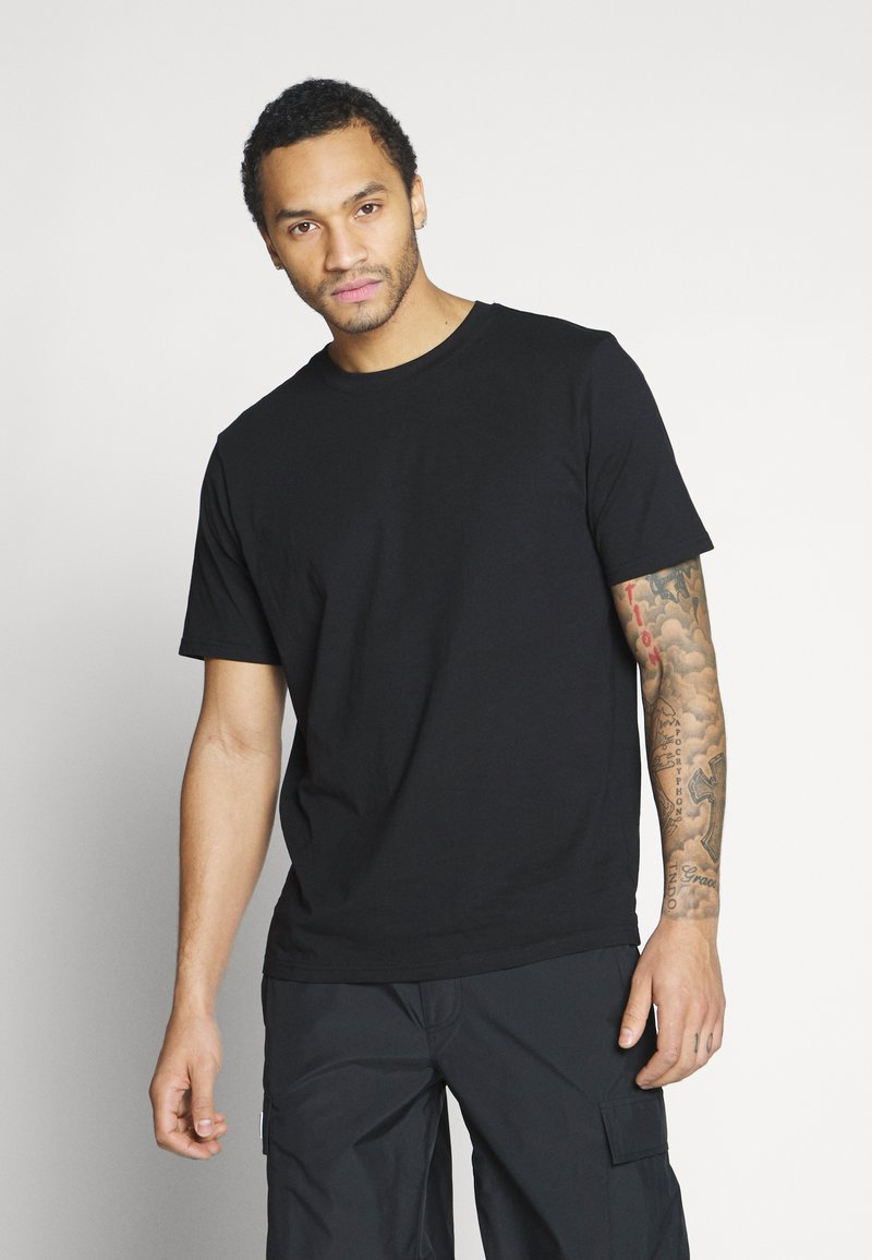 Weekday - FRANK - Basic T-shirt - black