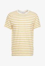 JAMIE  - Print T-shirt - yellow/white