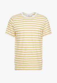 Weekday - JAMIE  - Print T-shirt - yellow/white - 3