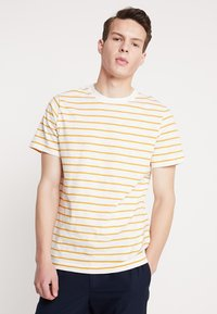 Weekday - JAMIE  - Print T-shirt - yellow/white - 0