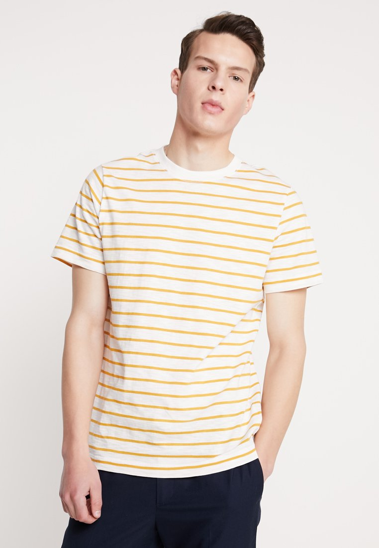 Weekday - JAMIE  - Print T-shirt - yellow/white